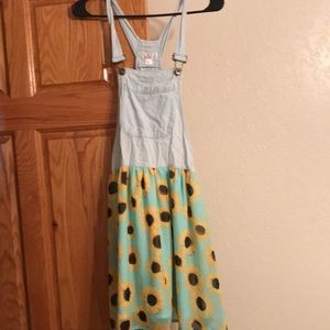 Sunflower overall dress